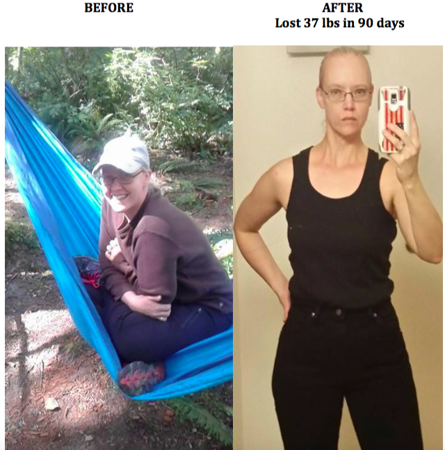 Cheyenne (40) lost 37 lbs in 90 days!